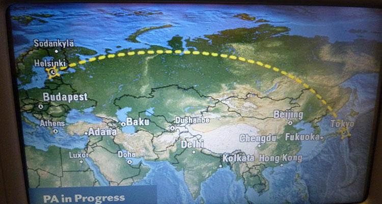 Flug nach Tokio