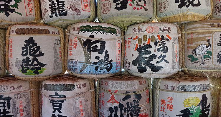 Sake Fässer in Japan